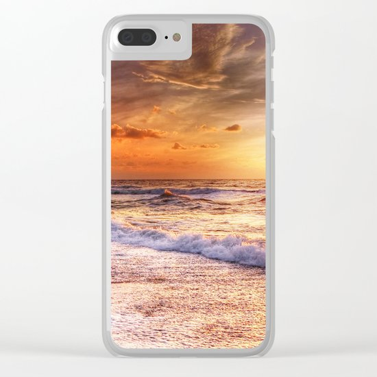 Burning Sea Clear iPhone Case