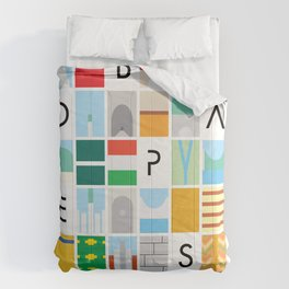 Budapest colors Comforters