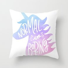 Normal Is Boring (Pastel) Throw Pillow