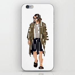 The Big Lebowski Inspired The Dude Typography Artwork iPhone Skin