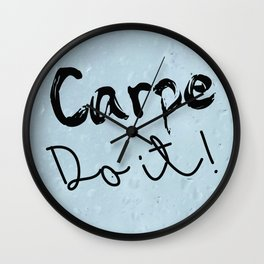 Carpe Do it! (rain) Wall Clock
