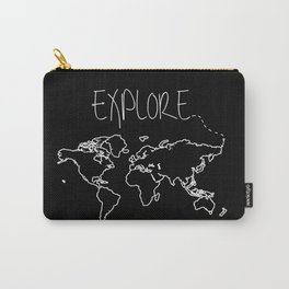 Explore World Map Carry-All Pouch