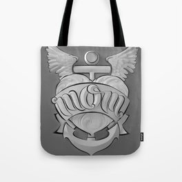 Mom's Tattoo (Black and White) Tote Bag