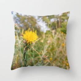 yellow starthistle Throw Pillow