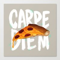 carpe diem Canvas Prints featuring Carpe Diem by Vaughn Pinpin