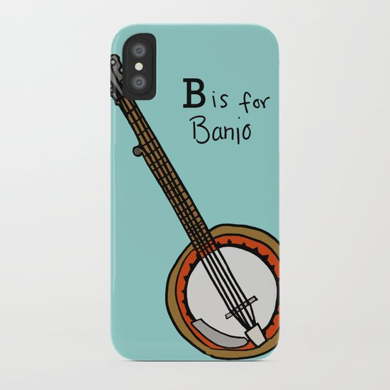 B is for Banjo  iPhone Case