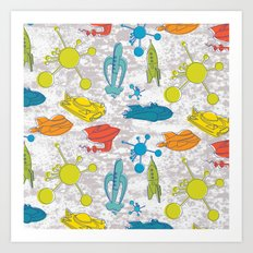 Atoms and Spaceships Art Print