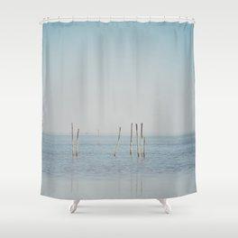 the Étang de Vaccarès ... Shower Curtain