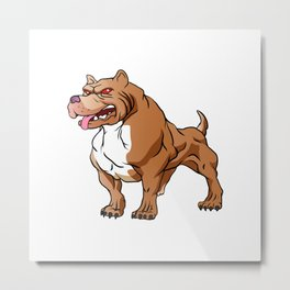 strong pitbull bodybuilder Metal Print