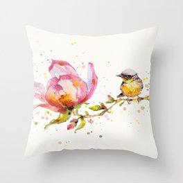 Magnolia & Buddy Throw Pillow