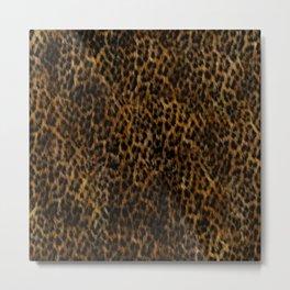 Cheetah Fur Texture Metal Print