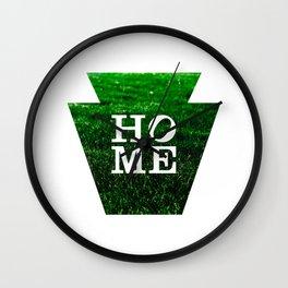 """HOME"" Pennsylvania Keystone Wall Clock"