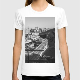 A coin operated scope and the Porto Cityscape, Porto, Portugal T-shirt