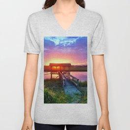 Litchfield Sunset Unisex V-Neck