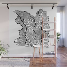 Contour Lines Wall Mural