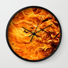 Winter Flames Wall Clock