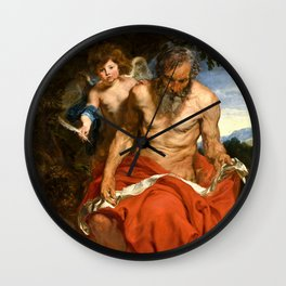 "Anthony van Dyck ""Saint Jerome"" Wall Clock"