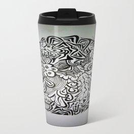 Crazy Eyeball Ink Doodle Travel Mug