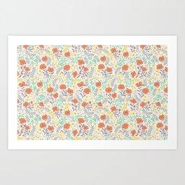 Colorful Peonies Art Print