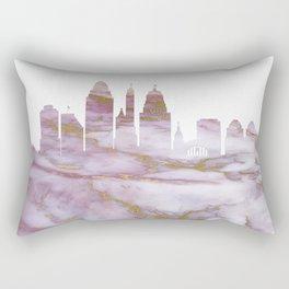 Cincinnati Skyline Ohio Rectangular Pillow