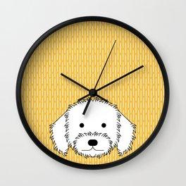 Goldendoodle pop Wall Clock