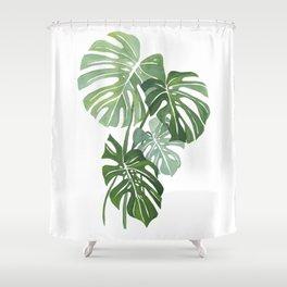 Monstera Leaves 3 Shower Curtain