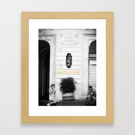 Gelato Al Cioccolato Framed Art Print