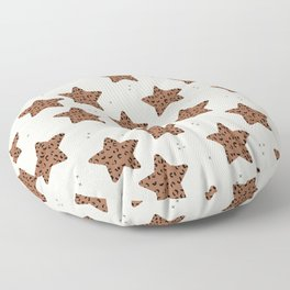 Leopard Star Copper Patern Design Print Floor Pillow
