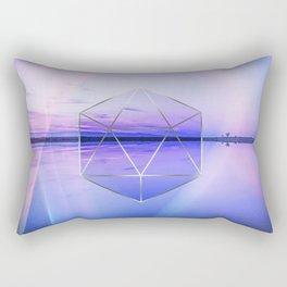 Landscape Meets Geometry Rectangular Pillow