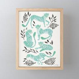Cheetah Collection – Mint & Black Palette Framed Mini Art Print