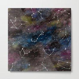 Zodiac Constellations Metal Print