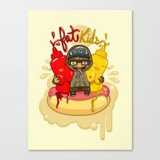 Fat Kids Canvas Print