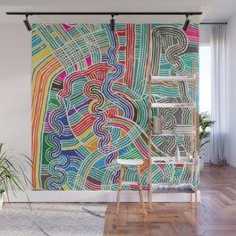 Happy Fork Waves Wall Mural