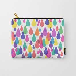 Rainbow Raindrops Carry-All Pouch