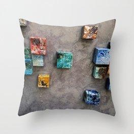 Single Ceramic  Tiles 2 Throw Pillow
