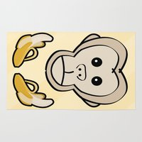monkey Area & Throw Rugs featuring Monkey by Nir P