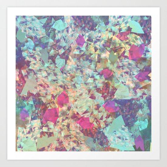 Spaced Geometric Art Print