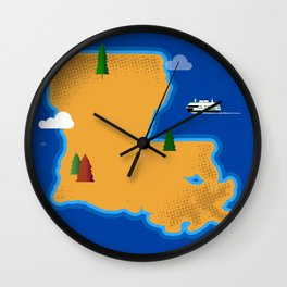 Louisiana Island Wall Clock