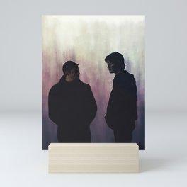 Young men dead Mini Art Print