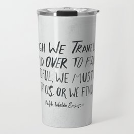 Ralph Waldo Emerson: Beautiful Travel Mug