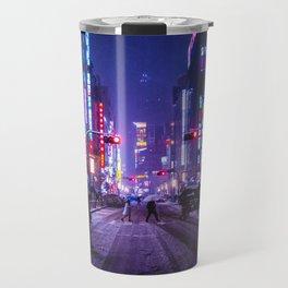 Shibuyascapes Snowy Night Travel Mug