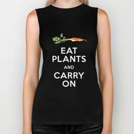 Eat Plant and Carry On Ultra Violet Background Biker Tank
