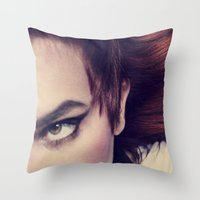 odd future Throw Pillows featuring Odd  by Ashley Boxler