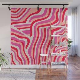 pink zebra stripes Wall Mural
