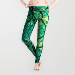 CHESTNUT FOLIAGE FANTASY ABSTRACT Leggings