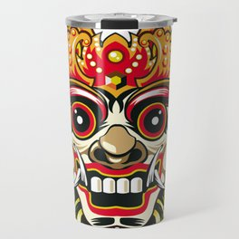 leak bali mask vector chiefs face Travel Mug