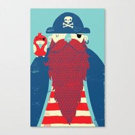 Old Captain Redbeard Canvas Print