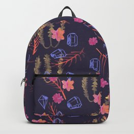 Dark Mystic Gems - Boho Pattern on Deep Purple Backpack