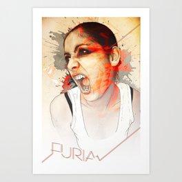Furia Art Print