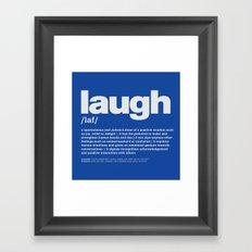 definition LLL - Laugh 6 Framed Art Print